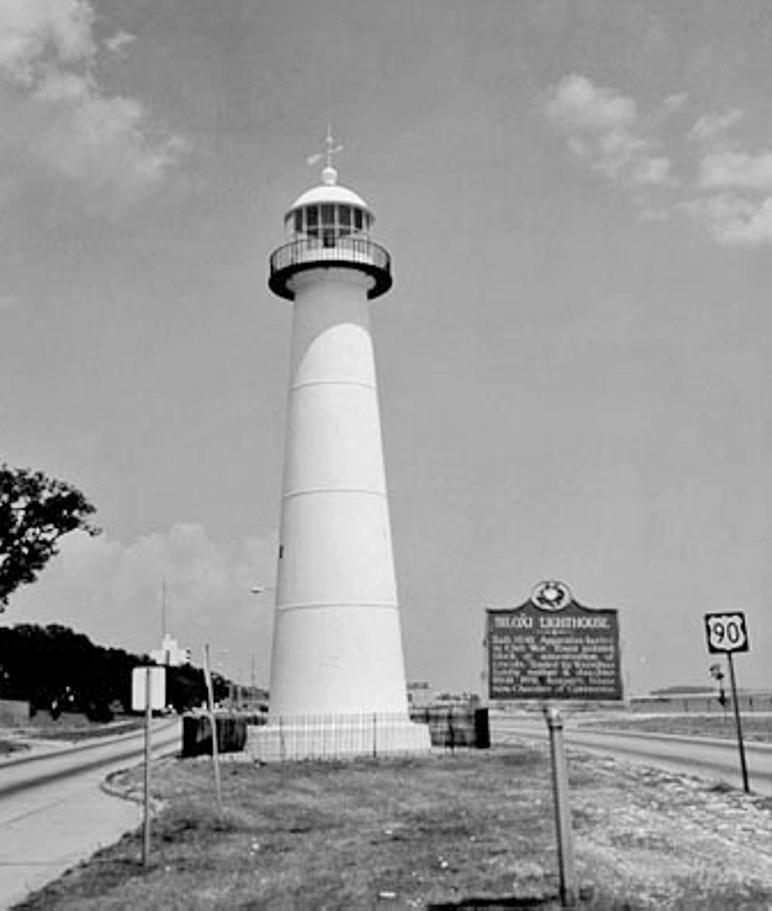 Biloxi Lighthouse Mississippi At Lighthousefriends Com