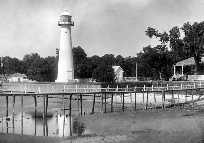 Biloxi Lighthouse Mississippi At Lighthousefriends Com