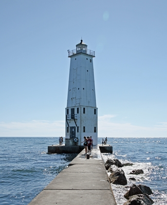 Frankfort North Breakwater Lighthouse, Michigan at