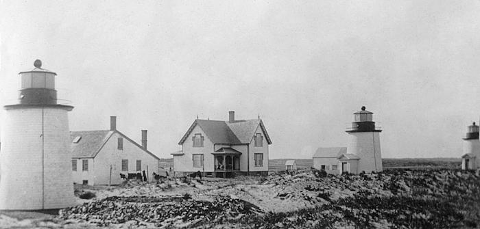 Three Sisters Lighthouse, Massachusetts at Lighthousefriends.com