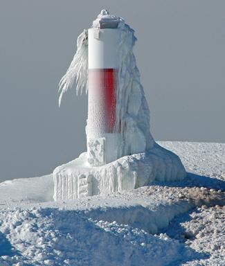 Portage Lake Lighthouse, Michigan at Lighthousefriends com