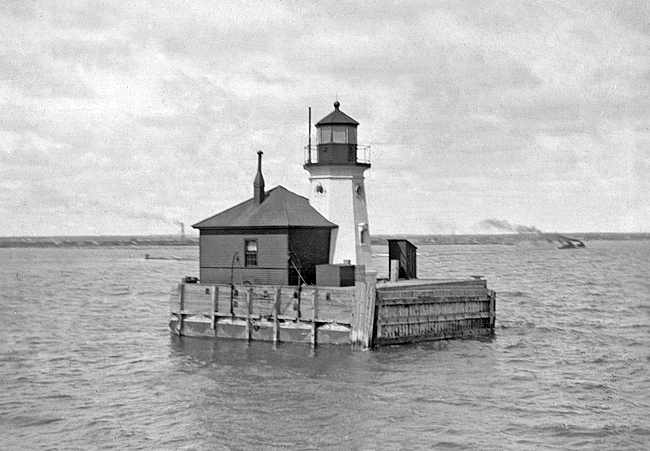 Cheboygan Crib Lighthouse Michigan At Lighthousefriends Com