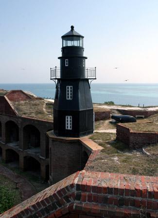 Garden Key Fort Jefferson Lighthouse Florida at