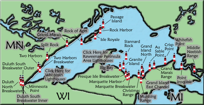 Lake Superior Lighthouse Map on map of hubbard lake area, map of lake mead area, map of keuka lake area, map of rhine river area, map of superior shipwrecks, map of lake minnetonka area, map of grand lake area, map of houghton lake area, map of flathead lake area, map of blue lake area, map of the north sea area, map of lake chelan area, map of saginaw bay area, map of bass lake area, map of lake wenatchee area, map of lake texoma area, map of iowa area, map around lake superior, map of south lake area, map of kentucky lake area,