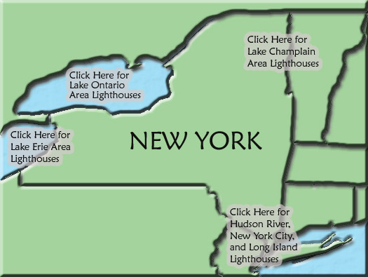 Map Of New York 2001.New York Lighthouse Map