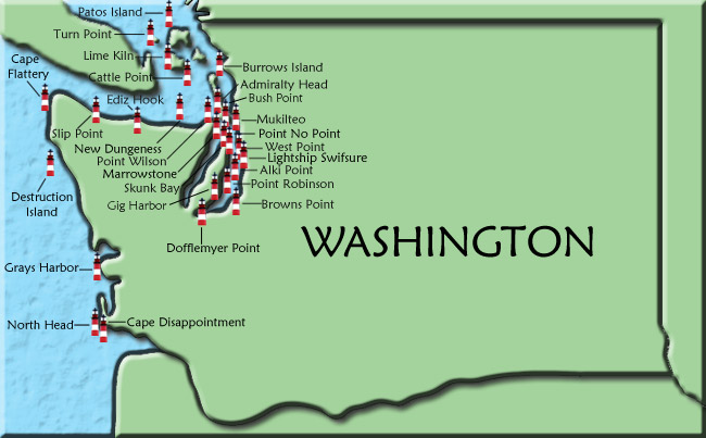 Washington Map - Map of washington coast
