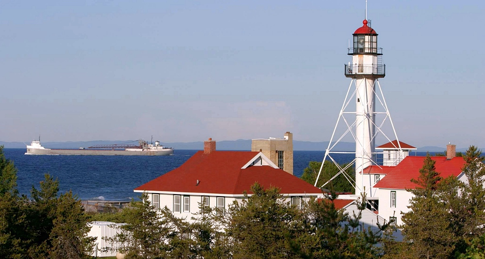 whitefish point lighthouse michigan at
