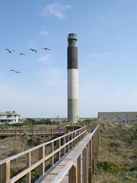 Oak Island Lighthouse - Attraction - Caswell Beach, North Carolina, United States
